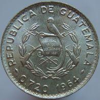 Guatemala 5 Centavos 1964 UNC - Silver - Guatemala