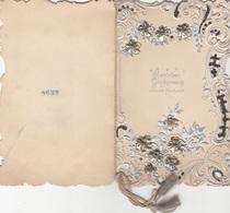 V1 - GLÜCKWUNSCHKARTE Zur Silbernen Hochzeit, Silber Prägekarte Mit Metall, Um 1900, Gute Erhaltung, 15 X 9,5 Cm - Seasons & Holidays