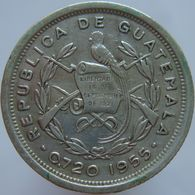 Guatemala 10 Centavos 1955 XF - Silver - Guatemala