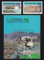 Chile Birds Flamingos Chinchilla Vicuna Endangered Species 2v+MS MNH SG#2062-MS2064 MI#2083-2084+Block 55 - Chile