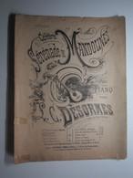 PARTITION CELEBRE SERENADE DE MANDOLINES POUR PIANO PAR DESORMES THÉÂTRE DES FOLIES BERGÈRE 27  X 34,5 Cm Env - Musique & Instruments