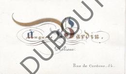 Porseleinkaart - Carte Porcelaine  Brugge Auguste Bardin - Relieur/Boekbinder -  Rue De Cordoue 54  (G140) - Brugge