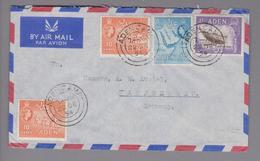 AS Aden (Jemen) 1954-12-22 Flugpostbrief Nach Kaufbeuren DE - Yémen