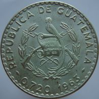 Guatemala 50 Centavos 1963 UNC Scarce - Silver - Guatemala
