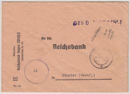 All.Bes. - Hagen 24.7.45, Gebühr Bezahlt, L1 A. Bankbrief N. Münster - Allemagne