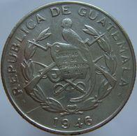 Guatemala 1/4 Quetzal 1946 XF Scarce - Silver - Guatemala