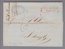 Altdeutschland Baden Freiburg 1849-08-09 Vorphila-Brief Nach Schwyz (Duser) - Bade