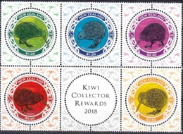 New Zealand 2018 Oiseau Kiwi Neuf ** - Neufs