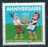 France - Timbre Anniversaire Sylvain Et Sylvette YT 4081 Obl.ondulations - France