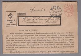 Motiv Landkarten 1931-05-05 Bern1 Firmenfreistempel #652 Hallwag AG - Géographie