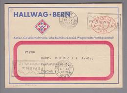 Motiv Landkarten/Druck 1931-05-22 Bern Firmenfreistempel Hallwag - Géographie