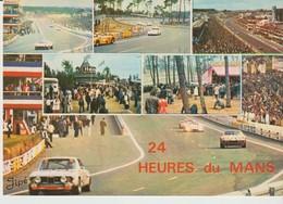 C.P. - LE MANS - CIRCUIT DES 24 HEURES - 185 - VUE D'ENSEMBLE STANDS DE RAVITAILLEMENT - VIRAGE S DU TERTRE ROUGE - COUR - Le Mans