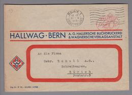 Motiv Landkarten/Druck 1931-10-31 Bern1 Firmenfreistempel Hallwag - Géographie