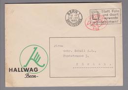 Motiv Landkarten/Druck 1933-07-22 Bern1 Firmenfreistempel Hallwag - Géographie