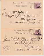 DR - Strassberg, Klosterwald (Hohenzenzollern), Ra3 Ja A. 5 Pfg. GA-Karte 1886 - Unclassified