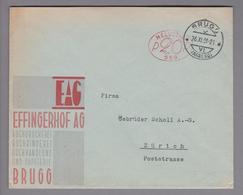Motiv Druck 1931-11-26 Brugg Firmenfreistempel #559 Effingerhof AG - Usines & Industries