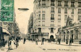 94  VINCENNES RUE DE MONTREUIL  LA GARE - Vincennes