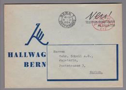 Motiv Landkarten/Druck 1934-11-09 Firmenfreistempel #652 Hallwag Bern - Géographie