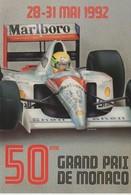 C.P. - 50° GRAND PRIX DE MONACO - 1992 - MARLBORO - SHELL - A. I. P. - Grand Prix / F1