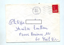 Lettre  Flamme Muette Nimes Air - Postmark Collection (Covers)
