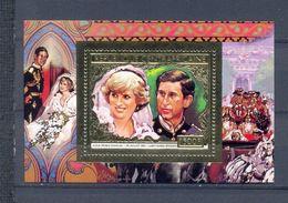 Central African Republic  1981 - Royal Wedding Golden Souvenir Sheet Mnh - República Centroafricana