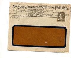 Lettre  Flamme Beauvais Brosserie Tapis Ceramique  Entete Manufacture - Marcophilie (Lettres)