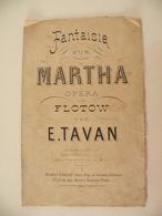 Fantaisie Sur Martha (E. Tavan)-(Opéra De Flotow) (Partition) - Opera
