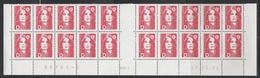 """2712 """"D""""  BRIAT ROUGE - BAS De FEUILLES X 20 - RGR 1  Du 17.01.91 - 1989-96 Marianne Du Bicentenaire"""