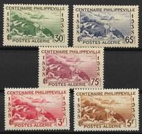 ALGERIE SERIE CENTENAIRE DE PHILIPPEVILLE N° 142/146 NEUVE * GOMME AVEC CHARNIERE - Algérie (1924-1962)