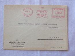 Finland 1949 Cover Helsinki To Turku - Machine Franking - Finland