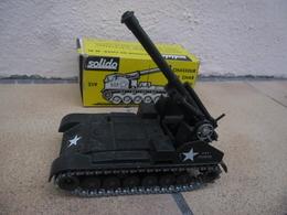 SOLIDO - CHASSEUR DE CHAR M 41 Auto Moteur Canon De 155 Made In France USA Army Ref. 219 échelle 1:50 @ No China ! - Tanks