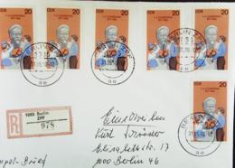 DDR: R-Doppel-Ausl-Brief Mit 20 Pf Dzierzynski  Aus Block 49 OSt. Berlin ZPF 31.05.90 Nach Berlin - West Knr: 2252 (6) - [6] Repubblica Democratica