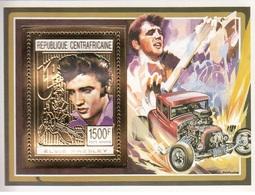 Central African Republic  1993 - Elvis Presley Golden Souvenir Sheet Mnh - República Centroafricana