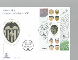 SPAIN 2019 - SOBREPRIMER DIA ESPECIAL CENTENARIO VALENCIA FOOTBALL CLUB 1919-2019 CON OBLI 13/8/2019CON HOJA RECUERDO - FDC