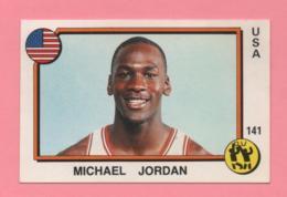 Figurina Panini 1988 Supersport - N°141 E N°85 - Michael Jordan-Tita (Milton Queiroz Da Paixao) - Trading Cards