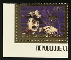 Central African Republic  1984 - Boy Scouts Golden Mnh - República Centroafricana