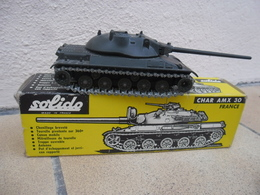 SOLIDO - CHAR AMX 30 T Canon Mobile Made In France Ref. 209 échelle 1:50 Tank Blindé Strasbourg Métal @ No China ! - Chars