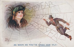 Spurgin , Fred ; Leap Year Woman Has Man Caught In Spider's Web , 00-10s - Spurgin, Fred