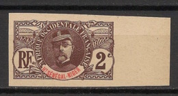 Haut-Sénégal Et Niger - 1906 - N°Yv. 2a - Faidherbe 2c - Bord De Feuille - Non Dentelé / Imperf. - NSG / MNG / (*) - Haut-Sénégal Et Niger (1904-1921)