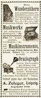 Original-Werbung/ Anzeige 1899 - ORATIOGRAPH (PHONOGRAPH) / MUSIKWERKE / ZULEGER - LEIPZIG - Ca. 45 X 100 Mm - Reclame