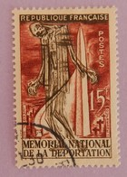 """FRANCE YT 1050 OBLITÉRÉ """" MÉMORIAL DE LA DÉPORTATION"""" ANNÉE 1956 - France"""
