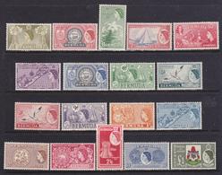 Bermuda 1953 Elisabetta II Serie Cpl 18 Val MNH** MLH* - Bermuda