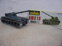SOLIDO - CHAR AMX 13 T Canon De 90 Mm Hombourg Made In France Ref. 230 échelle 1:50 Tank Blindé Métal @ No China ! - Tanks