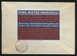 D. Reich Brief Zusammendruck U.a. Ganzsache Selt. Propagandablatt Churchill - Ohne Zuordnung
