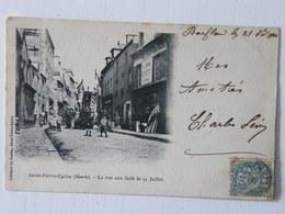 CPA Saint Pierre L'église La Rue Aux Juifs Le 14 Juillet 1903 - Saint Pierre Eglise