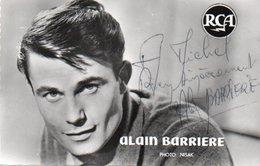 95K  Photo Dédicacée Chanteur Alain Barriere (pas Courante) - Entertainers