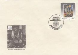 GOOD LITHUANIA FDC 1993 - Europa / Art - Lithuania