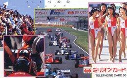 FEMME - AUTO  - VOITURE - AUTOMOBILE - CAR -- TELECARTE JAPON - Cars