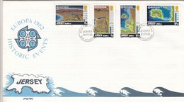 GOOD JERSEY FDC 1982 - Europa / Historic Events - Jersey