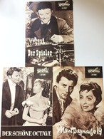 GÉRARD PHILIPE 3 East German Film Programs 1960 - Films & TV